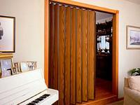 Series 220 accordion door for room divider