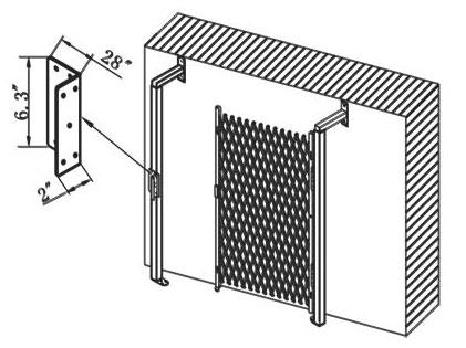 Folding-Gate-Installation L Plate Bracket