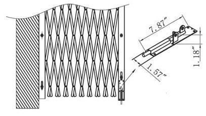 Folding-Gate-Installation-Drawing-Shoot Bolt Drop