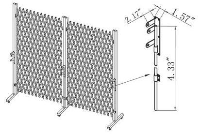 Folding-Gate-Installation trolley barrier application