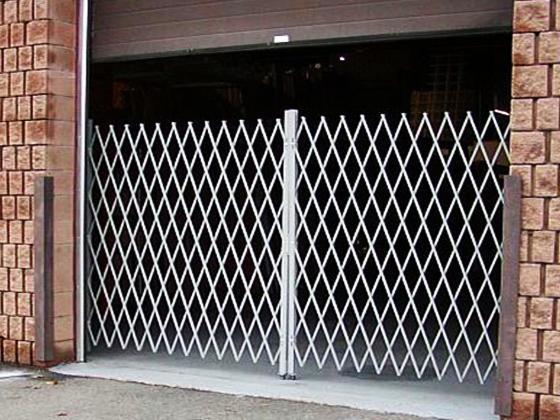 Folding Gate for Shipping Door Security-1