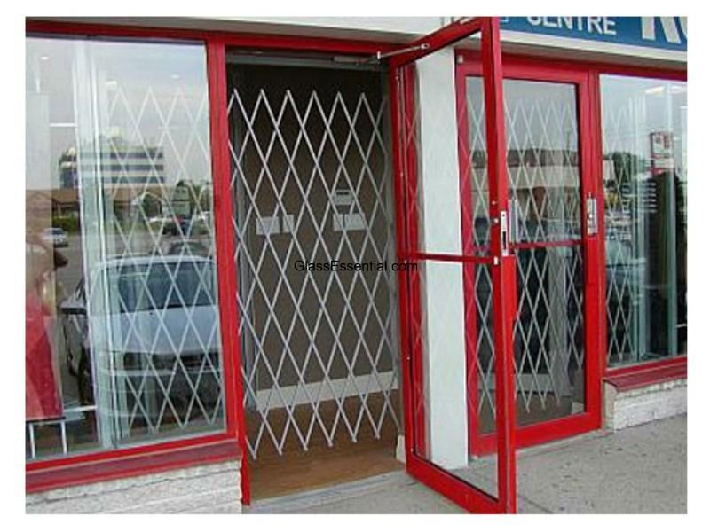 Retail Store Folding Gate For Window Door