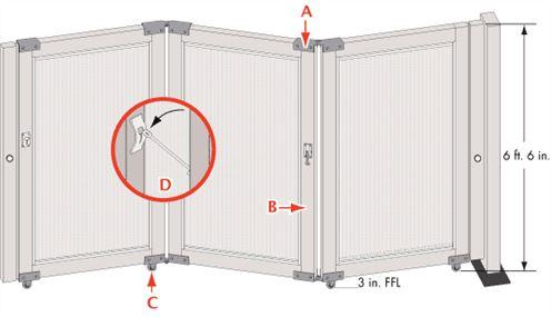 Folding Access Control Barrier Partition Technical Details-4
