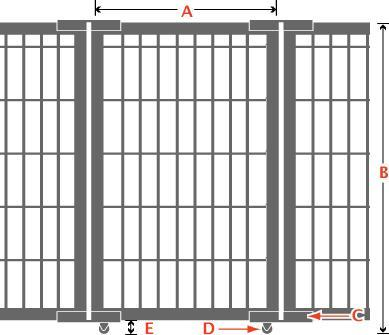 Folding Access Control Barrier Partition Rod and Link