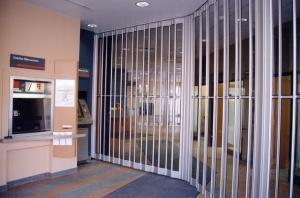 Royal folding security grille door