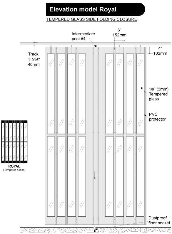Royal folding security grille door-10
