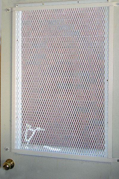 Expanded metal window door grille