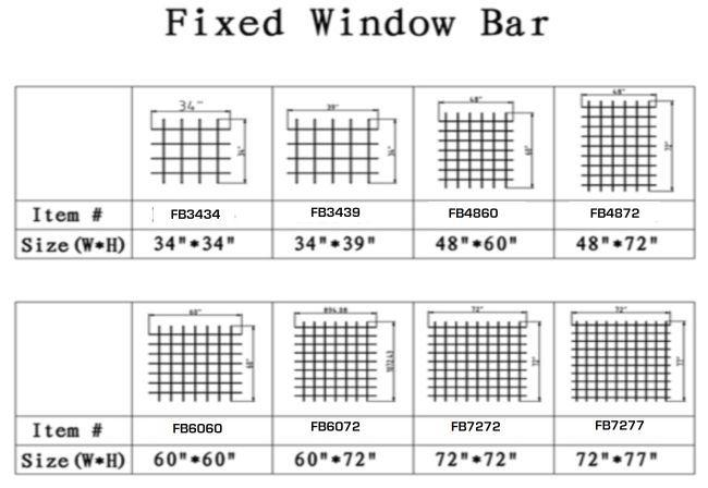 Fixed Window Bar Size