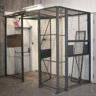 Wire mesh cage as a Man Trap to restrict entry
