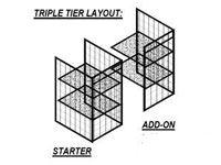 Triple-tier Locker Wire Mesh