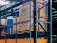 Wire mesh pallet rack enclosure-2