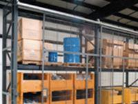 Wire mesh pallet rack enclosure-4